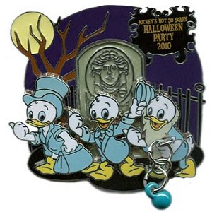 Disney Nephews Pin - Mickey's Not So Scary Halloween Party 2010 Ghosts