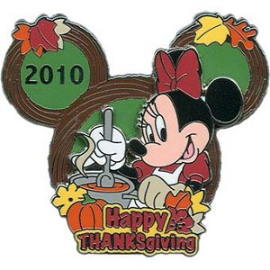 Disney Happy Thanksgiving Pin - 2010 Minnie Mouse