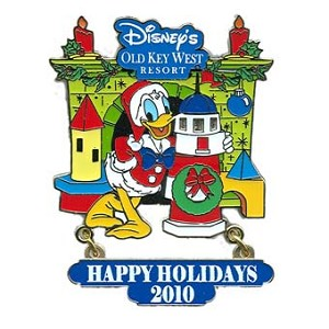 Disney Happy Holidays Pin - 2010 Old Key West Resort