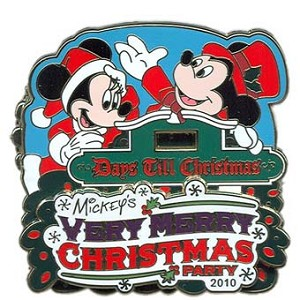 Disney Very Merry Christmas Party Pin - 2010 Mickey Minnie Countdown