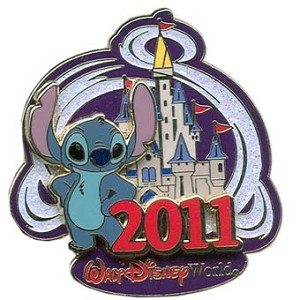 Disney Annual Pin - 2011 Cinderella Castle - Stitch
