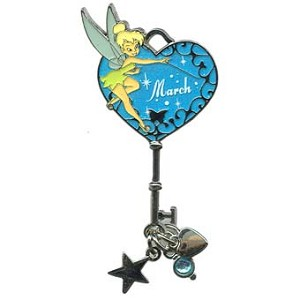 Disney Tinker Bell Birthstone Collection Pin - March - Key
