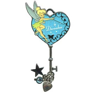 Disney Tinker Bell Birthstone Collection Pin - December - Key