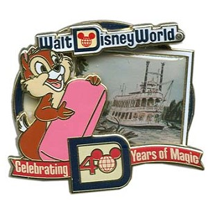 Disney Booster Packaged Pin Set - 40th Anniversary - 4 Pins