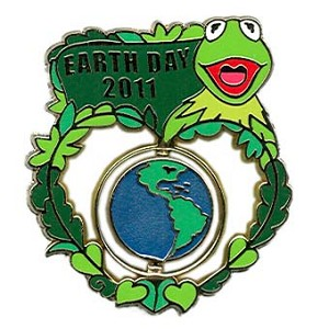 Disney Earth Day Pin - 2011 - Kermit the Frog