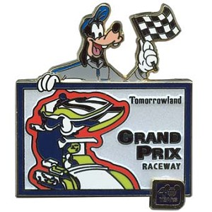 Disney 40th Anniversary Pin - Grand Prix Raceway - Goofy