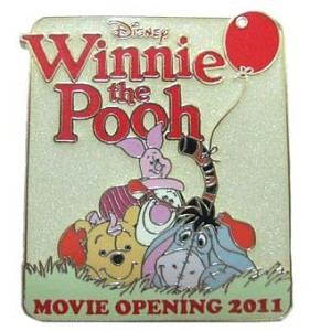 Disney Pooh Bear Pin - Winnie the Pooh Opening Day