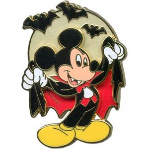 Disney Halloween Pin - Ghoulish Graveyard - Mickey Mouse as Vampire