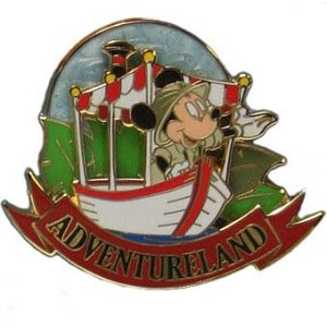Disney 40th Anniversary Pin - Magic Kingdom - Adventureland Mickey