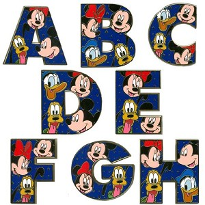 Disney Alphabet Pin - A through Z
