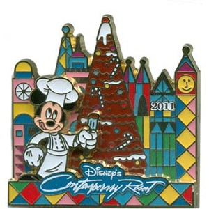 Disney Christmas Pin - Gingerbread House 2011 - Contemporary Resort