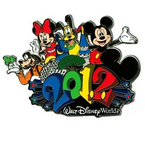 Disney Annual Pin - 2012 Logo - Mickey and Friends