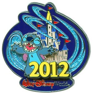Disney Annual Pin - 2012 Cinderella Castle - Stitch