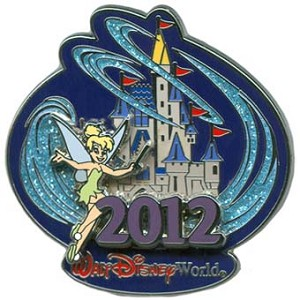 Disney Annual Pin - 2012 Cinderella Castle - Tinker Bell