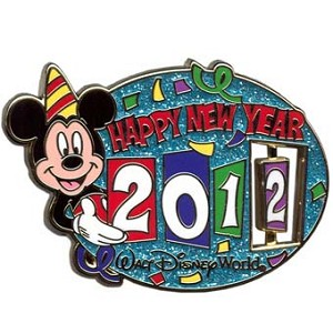Disney New Year Pin - 2012 - Mickey Mouse