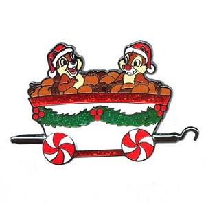 Disney Christmas Pin - Disney Express Train - Chip 'n Dale
