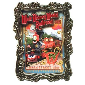 Disney Poster Pin - Walt Disney World Railroad Poster