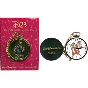 Disney D23 Pin - Pocket Watch - Chip and Dale