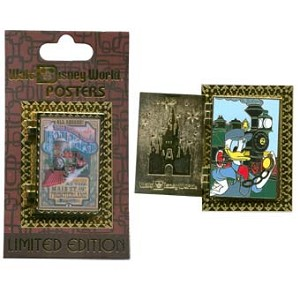 Disney Attraction Posters Pin - Walt Disney World Railroad