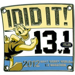 Disney 2012 Marathon Pin - Half Marathon - I Did It!