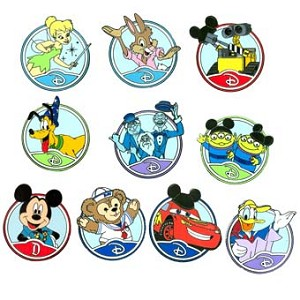 Disney Mystery Pin - Walt Disney World Storybook - 10 PIN COMPLETE SET