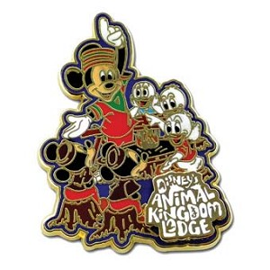 Disney Resort Pin - Animal Kingdom Lodge Mickey Fireside