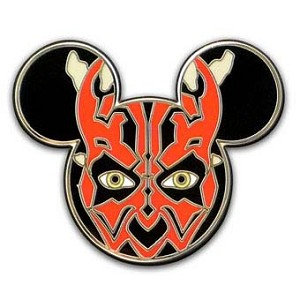 Disney Star Wars Pin - Darth Maul - Mickey Mouse Icon