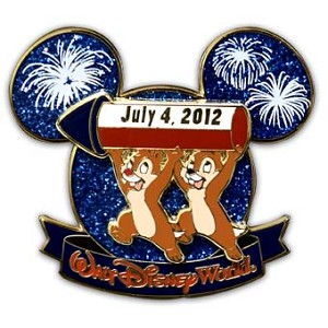 Disney Independence Day Pin - 2012 - Chip 'n Dale