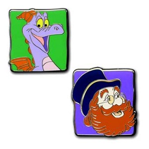Disney Figment Pin - Figment and Dreamfinder Set