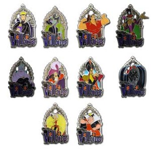 Disney Halloween Party Mystery Pin - Villains - Complete Set