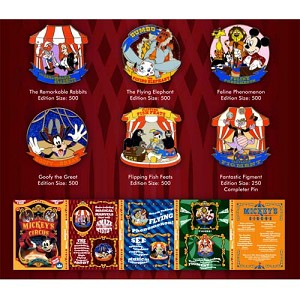 Disney Mickey's Circus Pin Set - Program Booklet