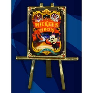 Disney Mickey's Circus Pin - Circus Poster Pin and Easel