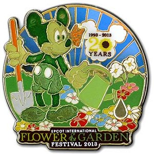 Disney Flower & Garden Festival Pin - 2013 Mickey Mouse Logo