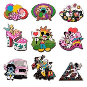 Disney Mystery Pin - 1970's Mickey Mouse and Friends - 9 PIN SET