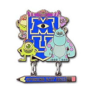 Disney Monsters University Pin - Monsters University Opening Day