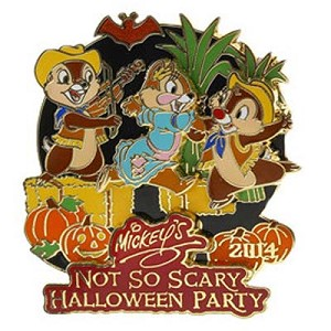 Disney Mickey's Not So Scary Halloween Party Pin - 2014 Chip and Dale