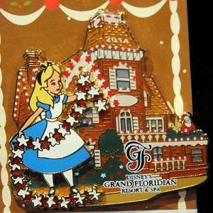 Disney Gingerbread House Pin - 2014 Grand Floridian Alice