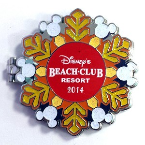 Disney Resort Holidays Pin - 2014 Beach Club Resort - Minnie Mouse