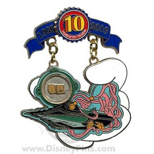 Disney Pin Trading 10th Anniversary Pin - Tribute - 20,000 Leagues