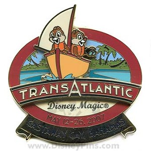 Disney Cruise Line Pin - Transatlantic May 2007 - Castaway