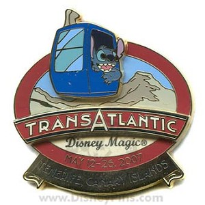 Disney Cruise Line Pin - Transatlantic May 2007 - Tenerife