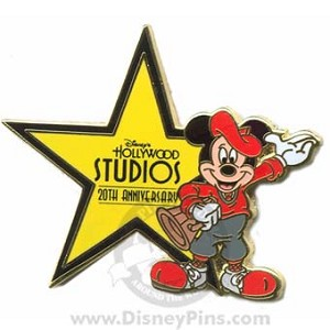 Disney Hollywood Studios Pin - 20th Anniversary - Star