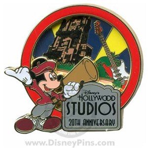 Disney Hollywood Studios Pin - 20th Anniversary - Skyline