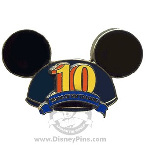 Disney Mickey Ears Hat Pin - Pin Trading 10th Anniversary