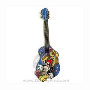 Disney Mickey Mouse Pin - Guitar