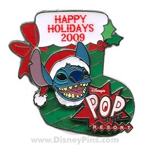 Disney Happy Holidays Pin - 2009 Pop Century Resort