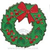 Disney Christmas Pin - Holiday Wreath with Mickey Jewels