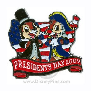 Disney Presidents' Day Pin - Chip and Dale
