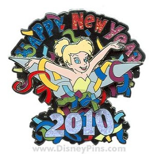 Disney New Year Pin - 2010 Tinker Bell