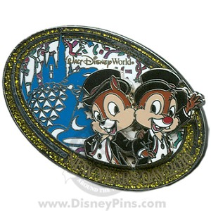 Disney New Year Day Pin - 2010 Chip and Dale